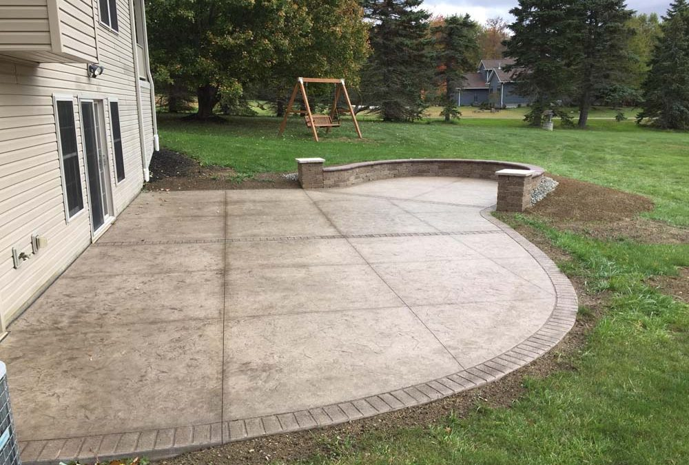 Backyard Concrete Patio Ideas: Stained and Stamped Splendor