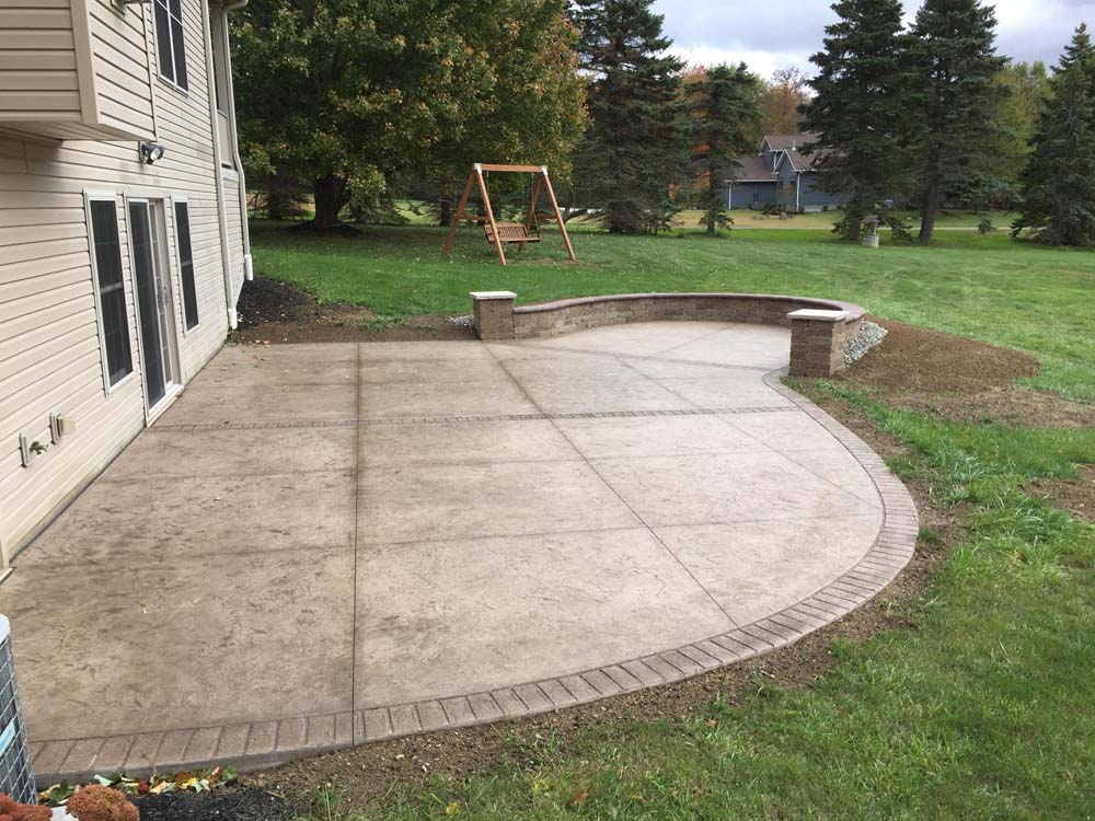 Backyard Concrete Patio Ideas: Stained and Stamped ...